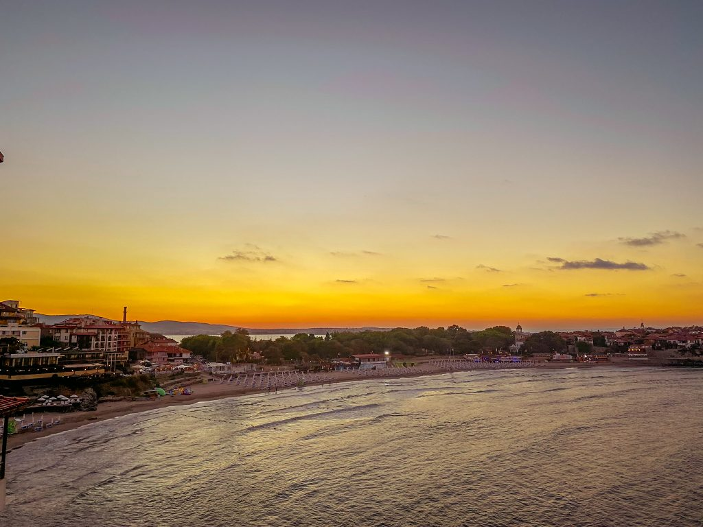 Sunset over Sozopol