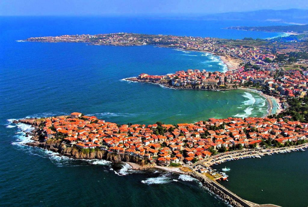 Sozopol Bulgaria from above
